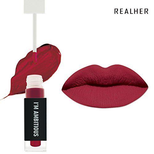 "RealHer Matte Long Lasting Waterproof Liquid Lipstick, color: ""I'm Ambitious"""