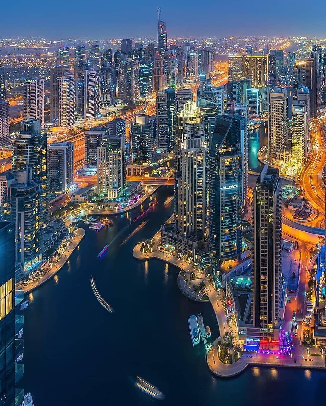 Dubai دبي On Twitter City Skyline Night Dubai City Visit Dubai