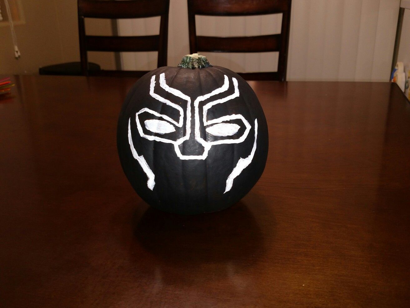 Black Panther Pumpkin Painting Black Panther Pinterest Painted