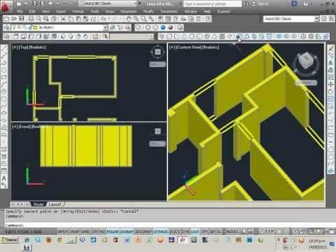 Curso Basico Autocad 3d 2016 Parte 1 Tutorial Para Principiantes En Espanol Youtube Autocad Planos Autocad Programa Arquitectura