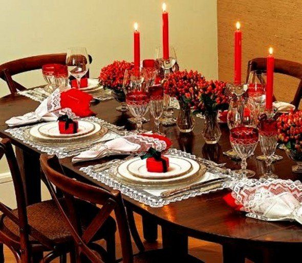 Beautiful Christmas Decorating Ideas For The Dining Room 2015 XqN5Jb40