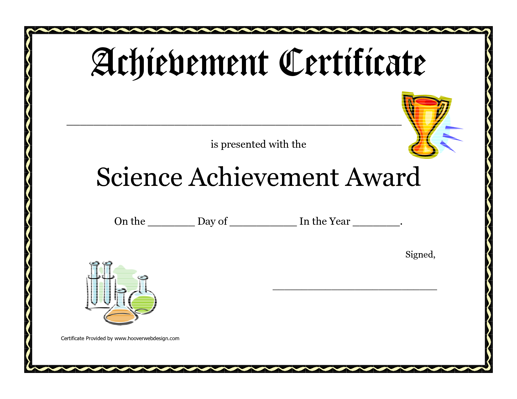 Science Fair Award Certificate Template Free Printable Science ...