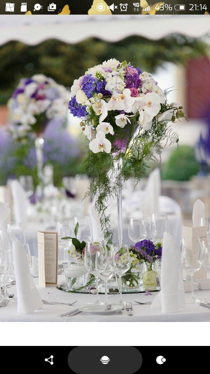 Hochzeit Blumen Dekoration Im Xxl Martiniglas Wedding Decor