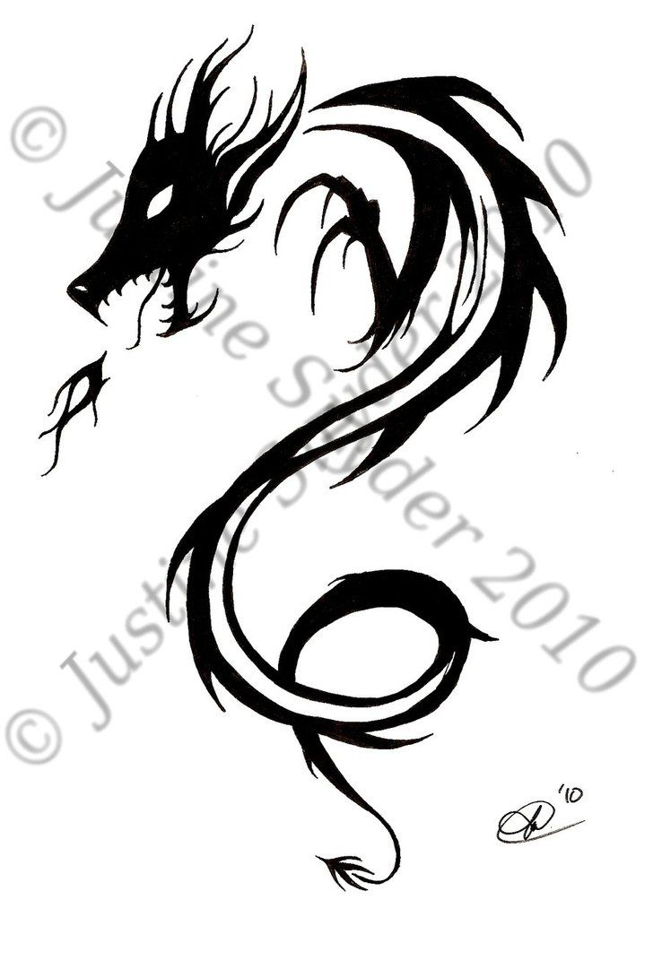 Tribal Dragon Design By Chalupagurl13 On Deviantart Dragon Design Dragon Images Small Dragon Tattoos
