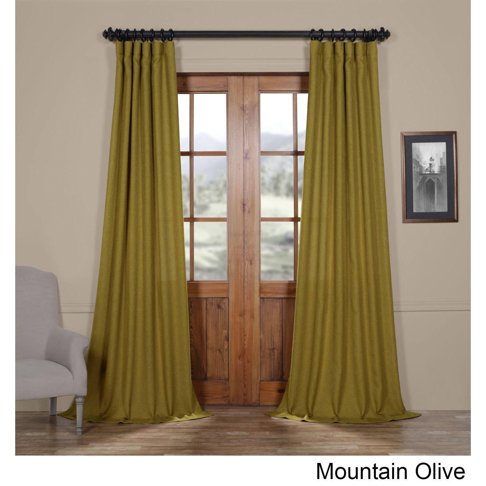 Exclusive Fabrics Faux Linen Semi Sheer Curtain Velvet Curtains