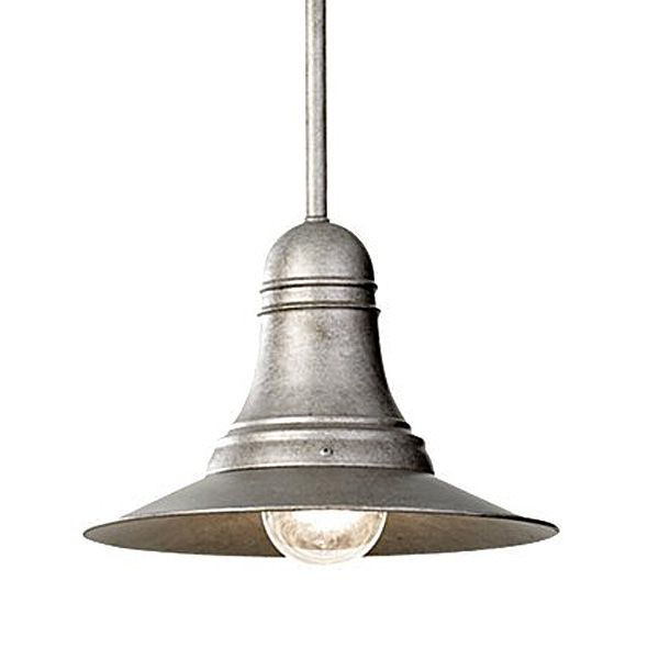 Ships bell antique pewter pendant light barn light electric co an american lighting manufacturer aloadofball Gallery