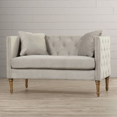 home today tufted sarah product settee grey overstock loveseat garden shipping free safavieh