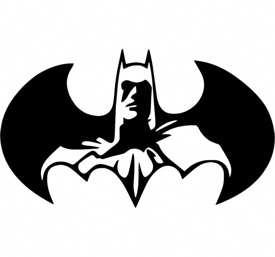 Dc Comics Batman Logo Car Truck Window Wall Laptop Vinyl Sticker Decal Batman Art Batman Canvas Batman Logo [ 900 x 965 Pixel ]