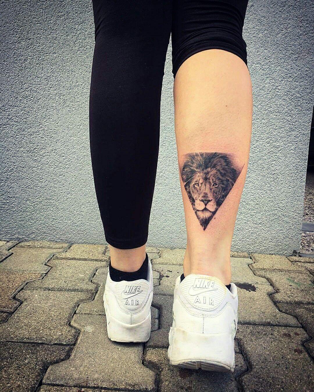 Tattoo Triangle Lion Leo Airmax Tattoo Tatoeage Ideeën