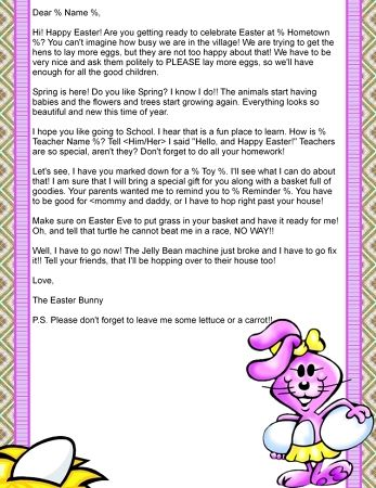 Letter From The Easter Bunny $ 12.95 | Letter From The Easter