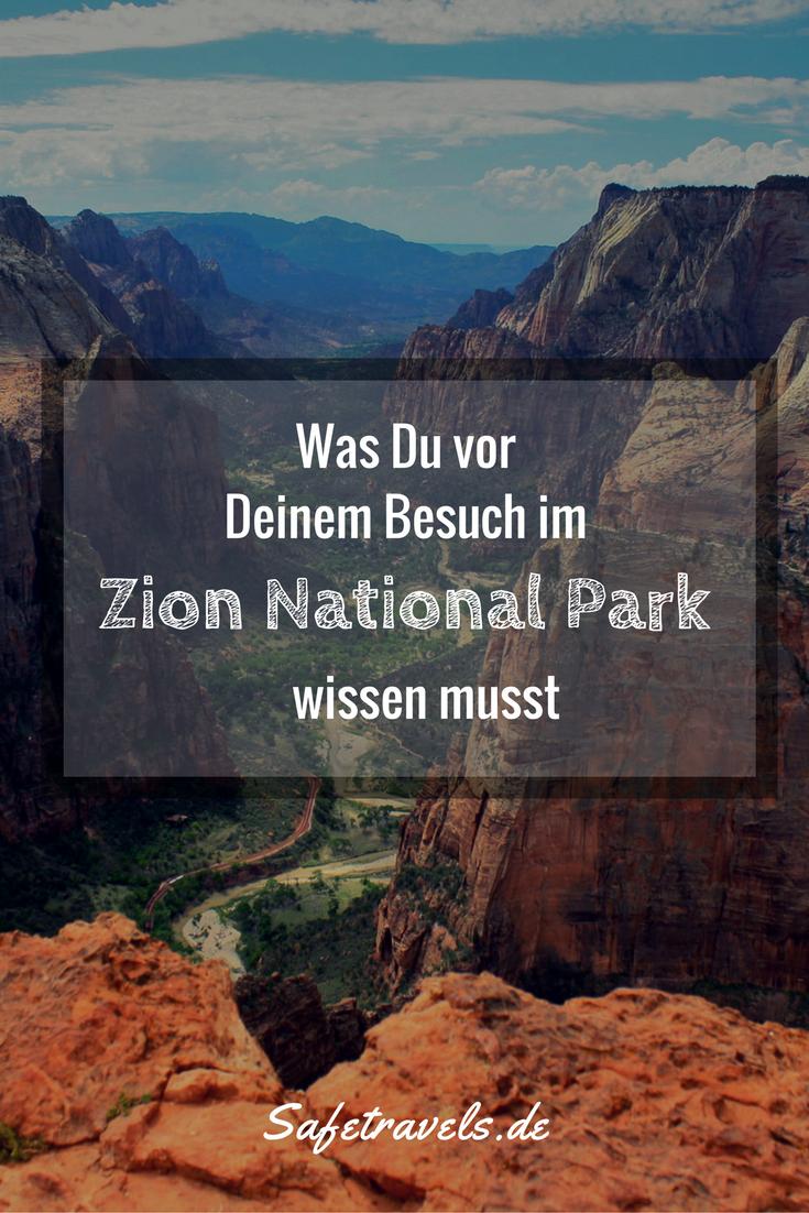 Zion National Park - Was Du vor Deinem Besuch wissen musst