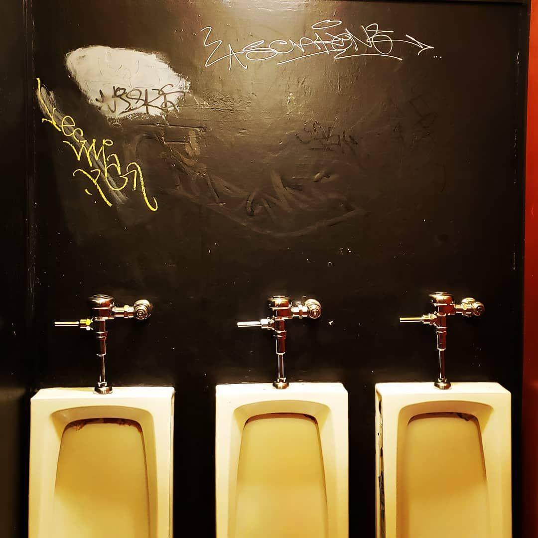 All in a row... #restroom #bathroom #urinal #awkward #graffiti #pizza #bar #ruleofthirds #photooftheday #flushAll in a row... #restroom #bathroom #urinal #awkward #graffiti #pizza #bar #ruleofthirds #photooftheday #flush