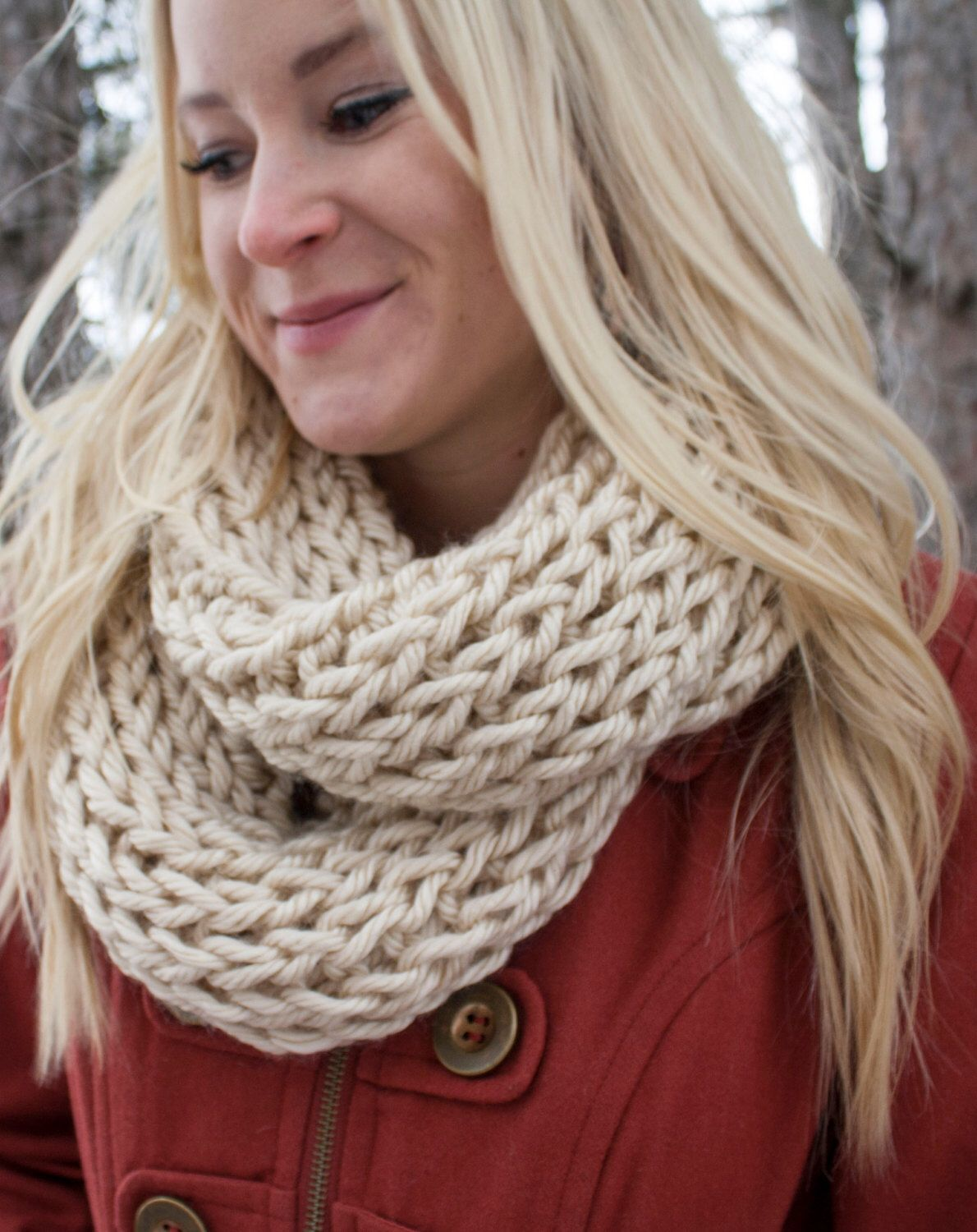 Bulky Rib Knit Infinity Scarf - Choose your own color by ...