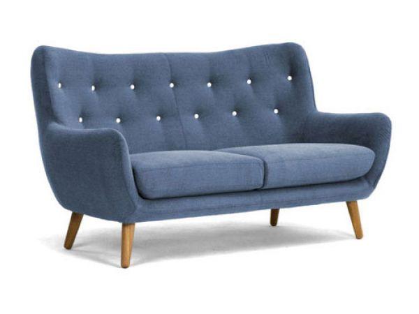 Retro Sofa Frenco 3 Sitzer Blau Bild 1 Perfekt Fur Die Neue Wohnung