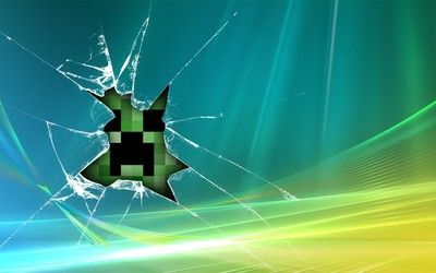 Creeper Behind Broken Glass Hd Wallpaper With Images
