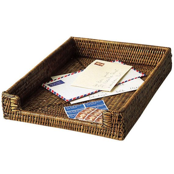 rattan a4 paper letter tray entrance hall