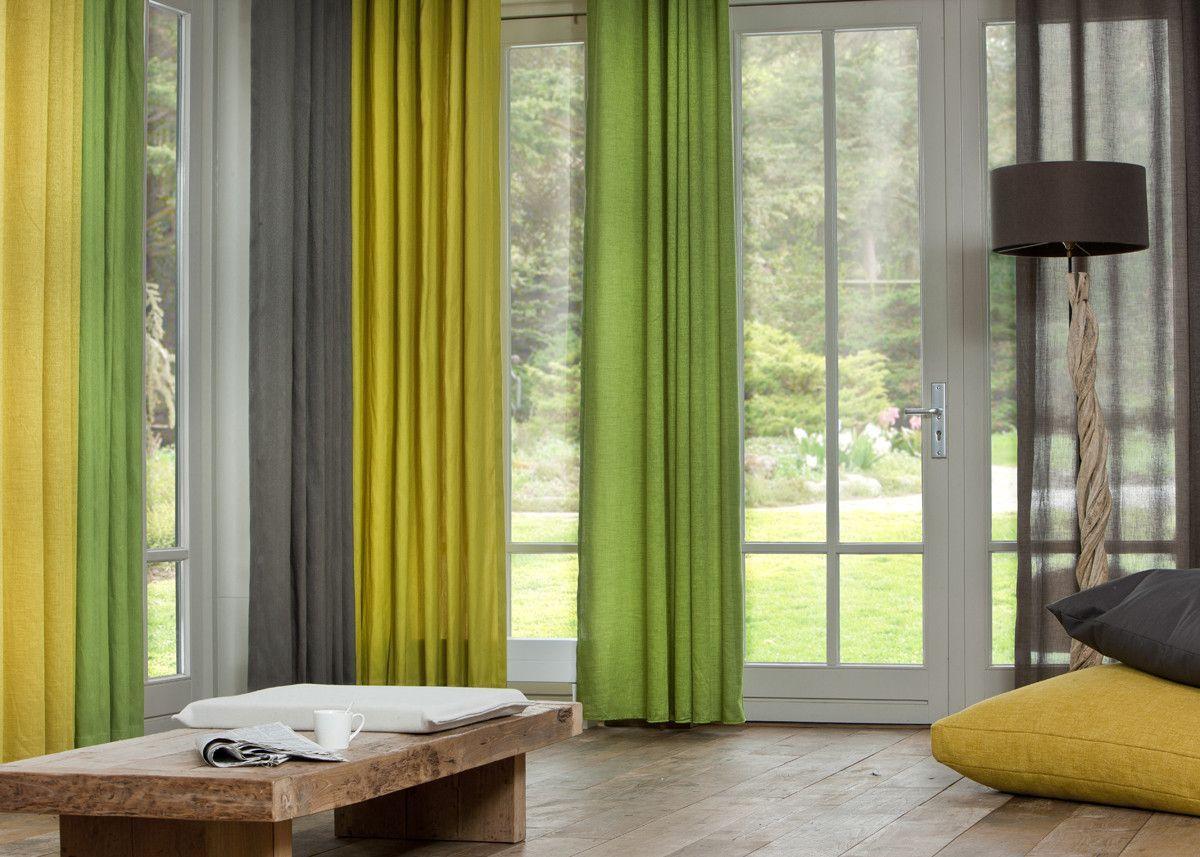 Artelux gordijnen Anna - groen, geel, grijs. #interieur ...