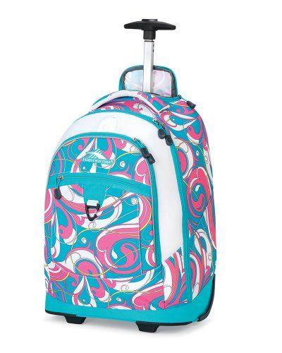 High Sierra Chaser Wheeled Book Bag (20 x 13.5 x 8-Inch, Pink/Teal ...