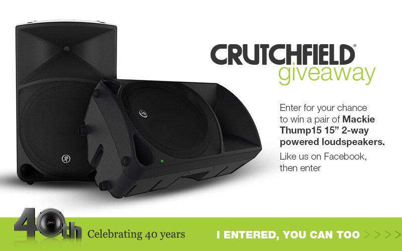 Enter to win a pair of Thump15 speakers from @crutchfield