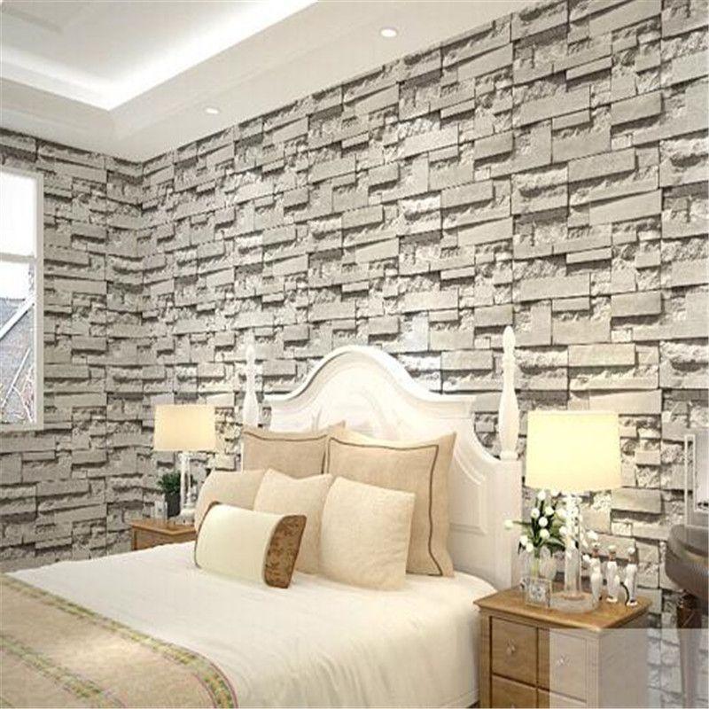 Gray Brick Imitation Custom Mural Walpaper With Free