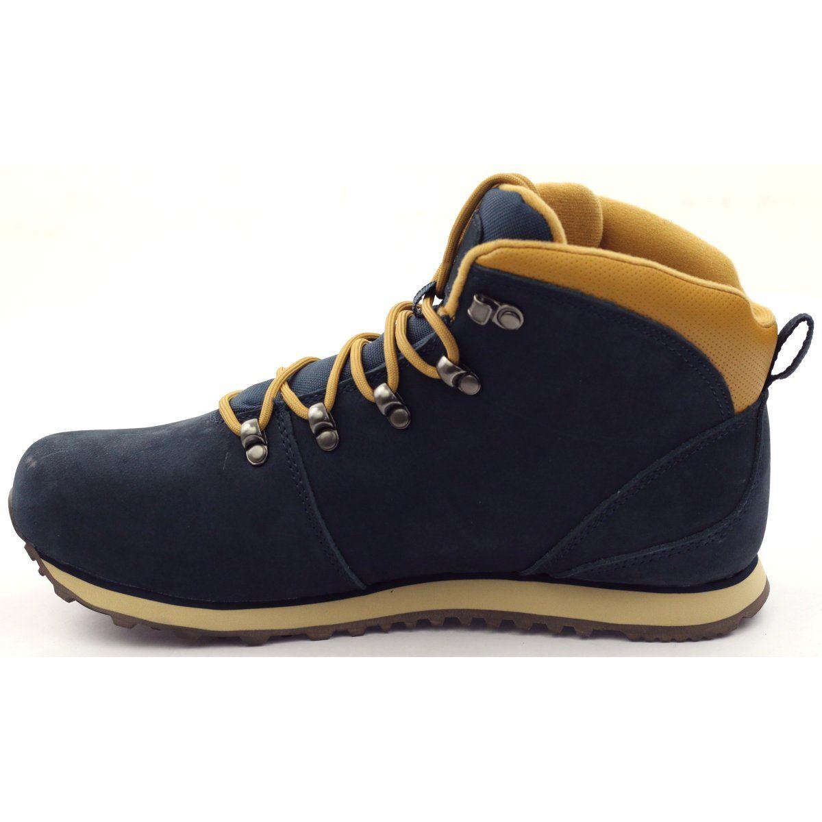 Mckey Trekkingowe Sportowe Membrana 419 Zolte Granatowe Hiking Boots Shoes Boots