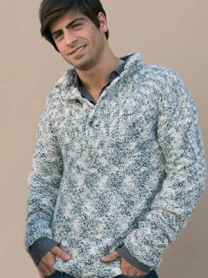 iKnitts: Patron para tejer Sweater de Hombre con cuello chomba ...