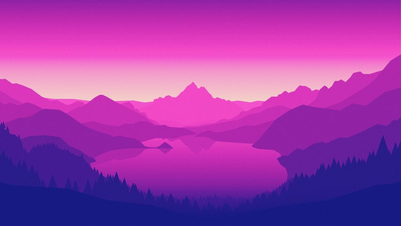 retrowave Art wallpaper, Purple wallpaper, Minimalist