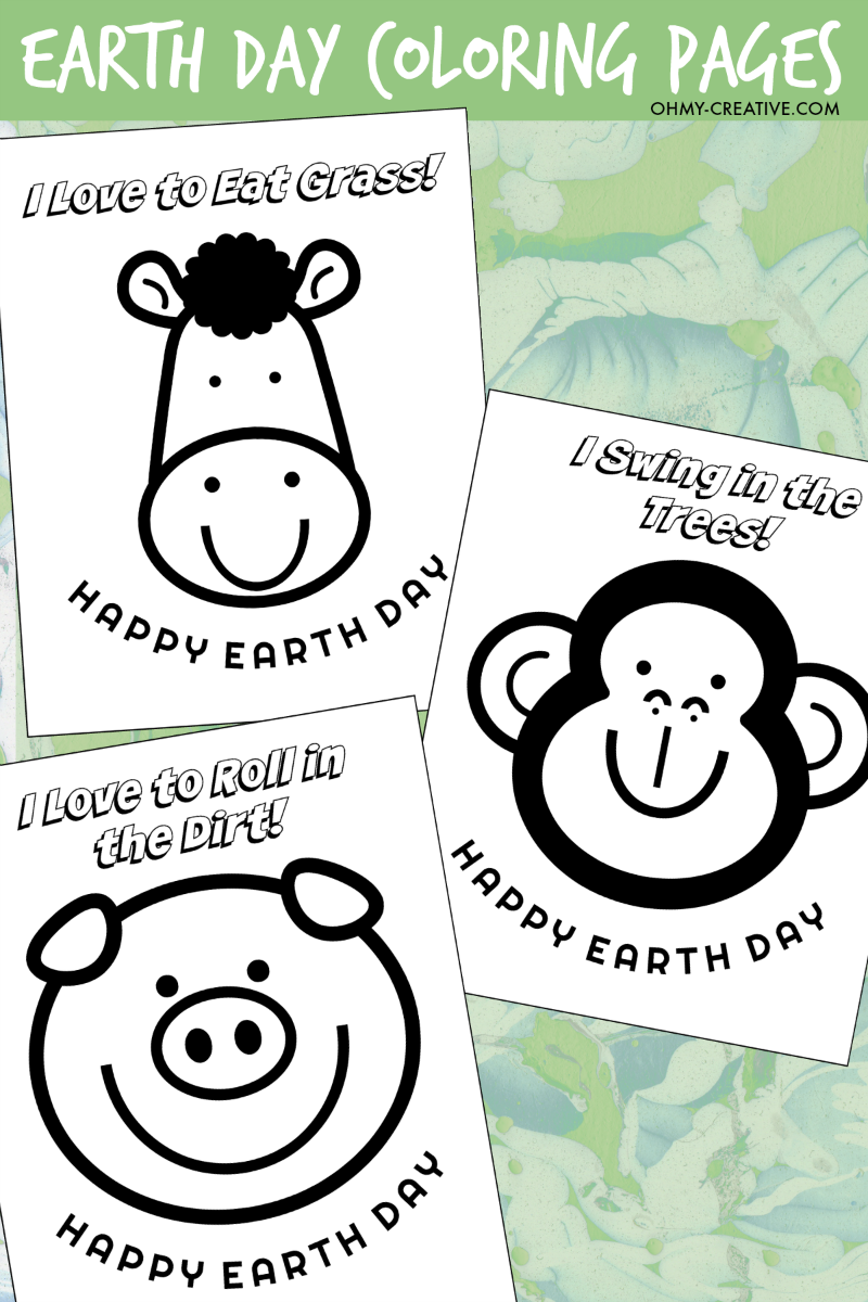 Earth Day Coloring Pages | Creative, Craft and Crafty