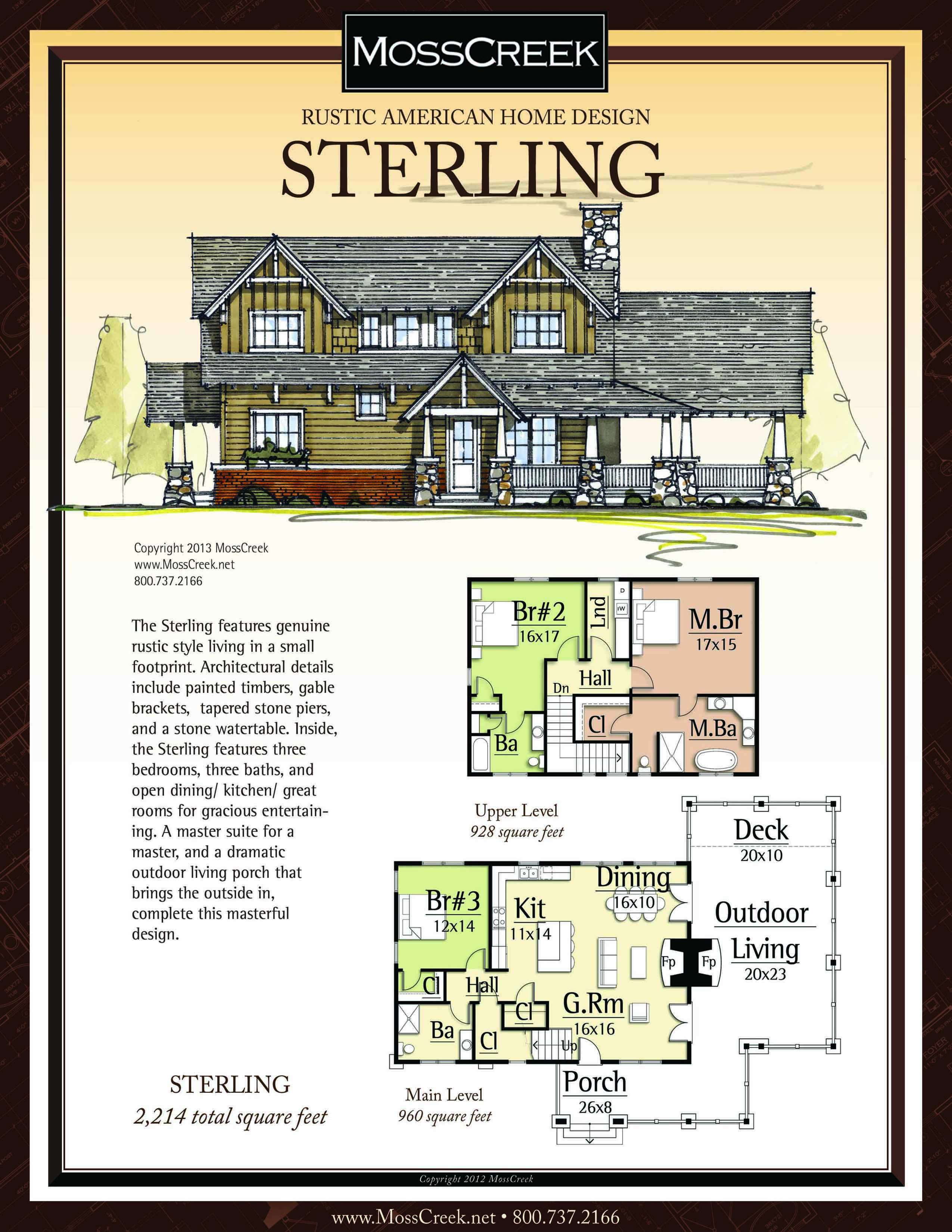 A Ready To Purchase 2214 Sf Home Plan From Mosscreek