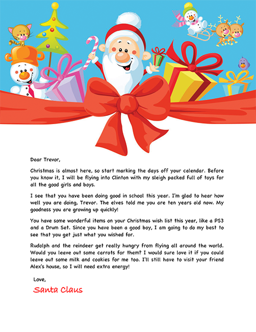 Santa letter for children projects to try pinterest santa santa letter example personalized letters from santa spiritdancerdesigns Choice Image