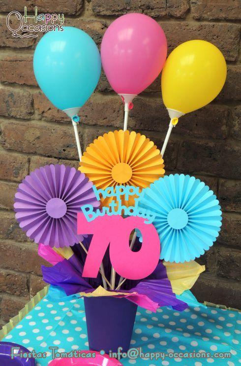 Fiesta 70 a os for Centros de mesa faciles de hacer