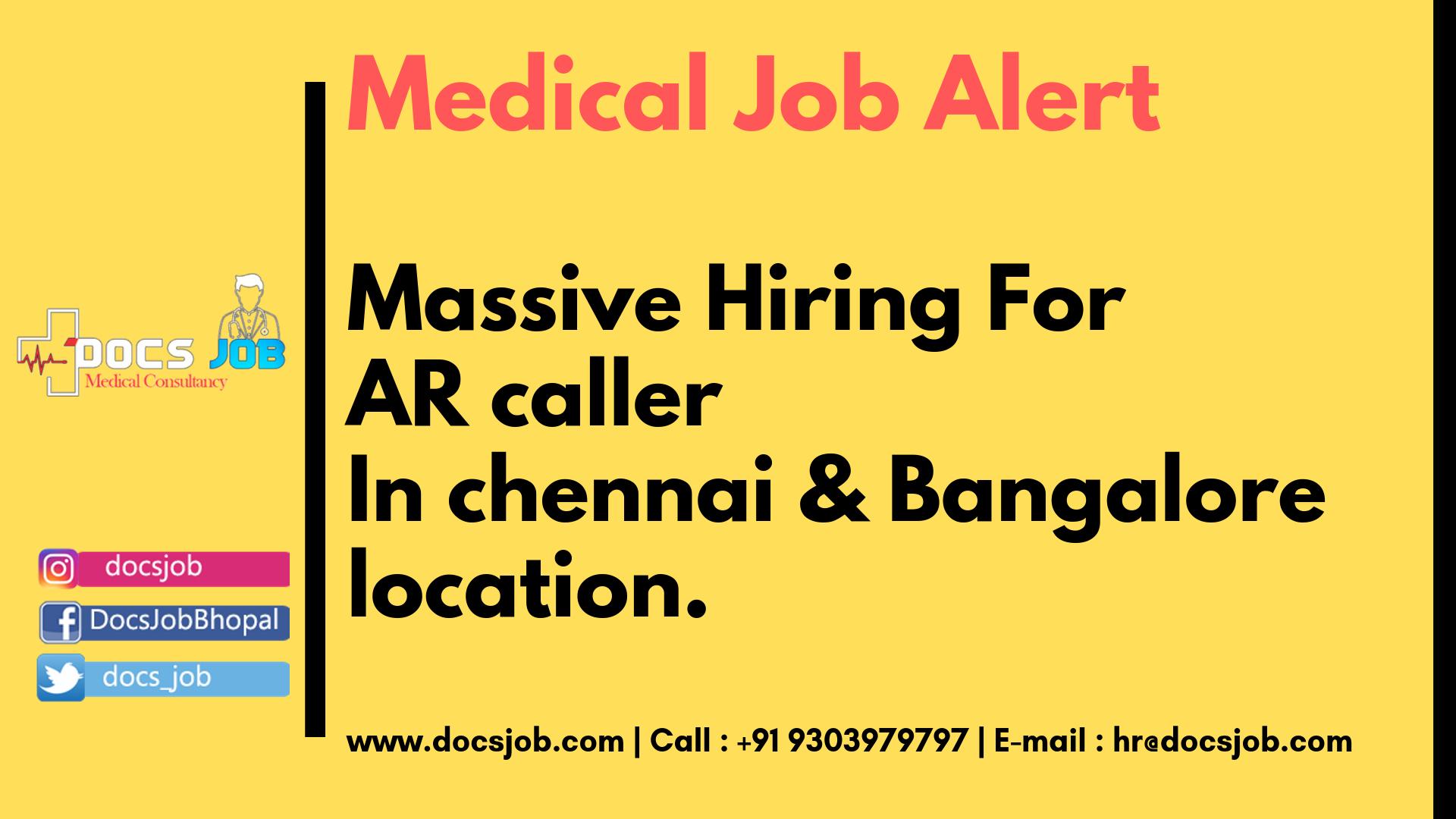 Massive Hiring For AR caller In Chennai & Bangalore