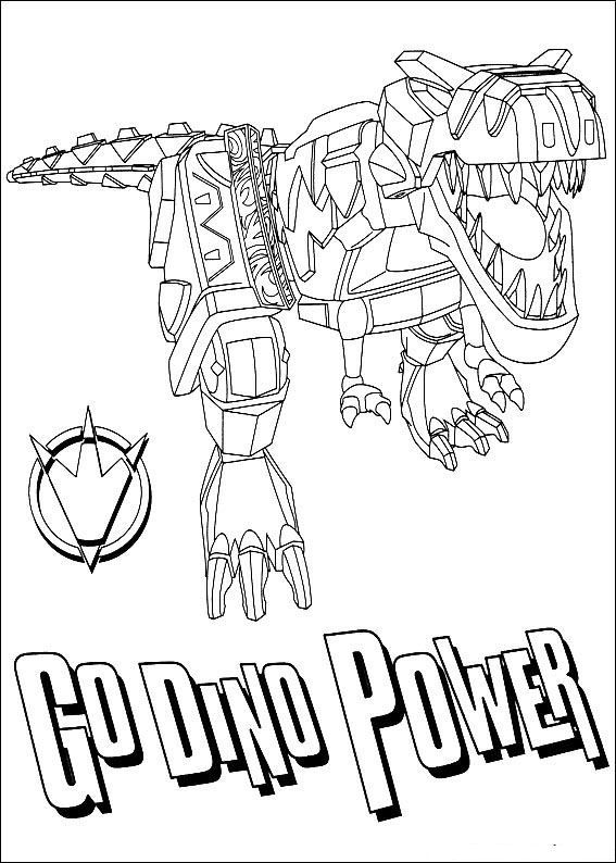 Power Rangers Dino Coloring Pages Lugares Que Visitar
