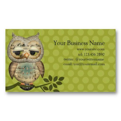 Vintage design buisness card vintage paper owl business cards from vintage design buisness card vintage paper owl business cards from zazzle reheart Gallery