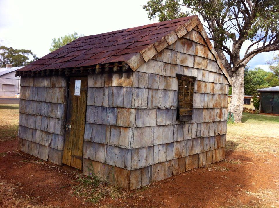 The Kerosene Tin Hut at Morven. Qld :-)