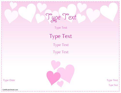 Relationships Certificate Romance Love Certificate Template