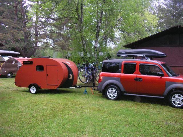 Red Honda Element With Camper Honda Element Camping Honda