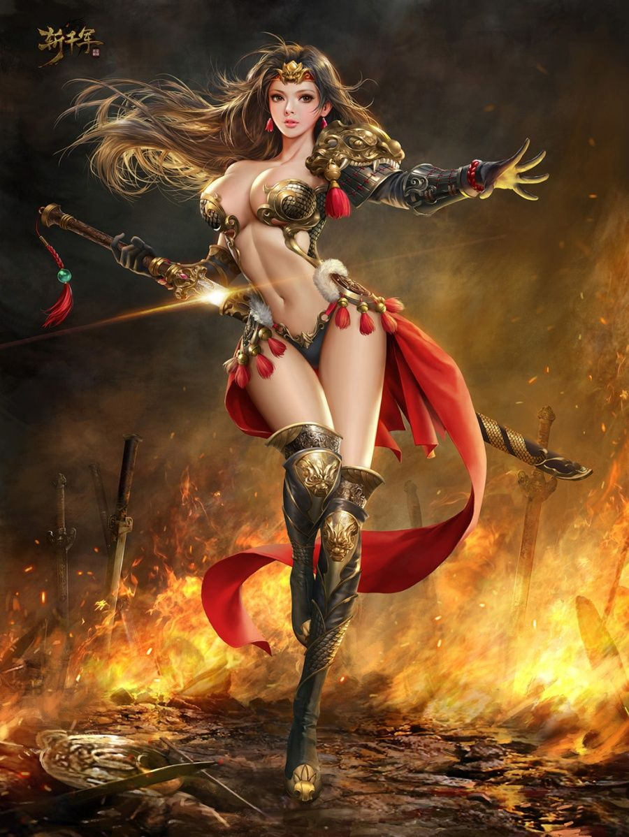 toppless-fantasy-warrior-women-nude