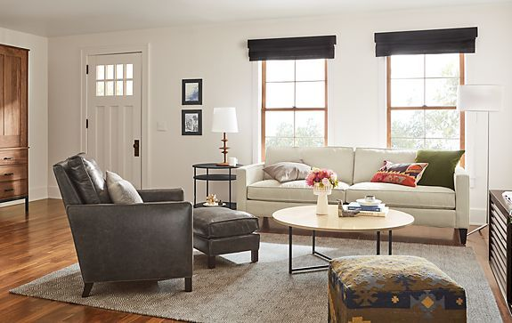 Harrison Sofa In Doss Ivory Modern Living Room Furniture Room