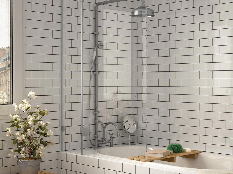 Flat White Gloss Subway Tile 75x150mm Wall Tiles Kitchen Kitchen Wall Tiles Tiles Subway Tile