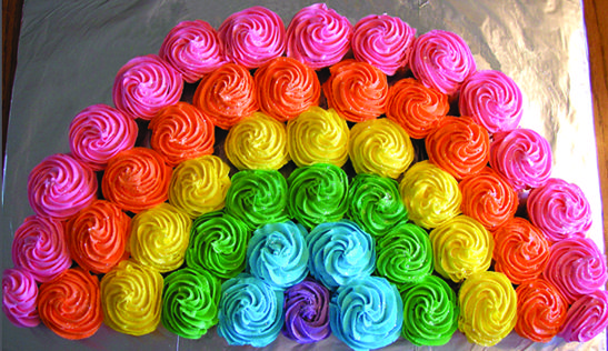 the Best Birthday Cupcake Cakes | Recipe | Rainbows, Pull apart ...