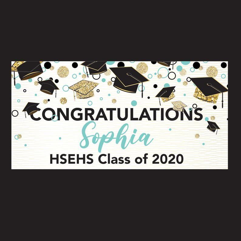 Graduation Banner Custom Vinyl Banner Custom Design Etsy In 2020 Graduation Banner Custom Vinyl Banners Vinyl Banners