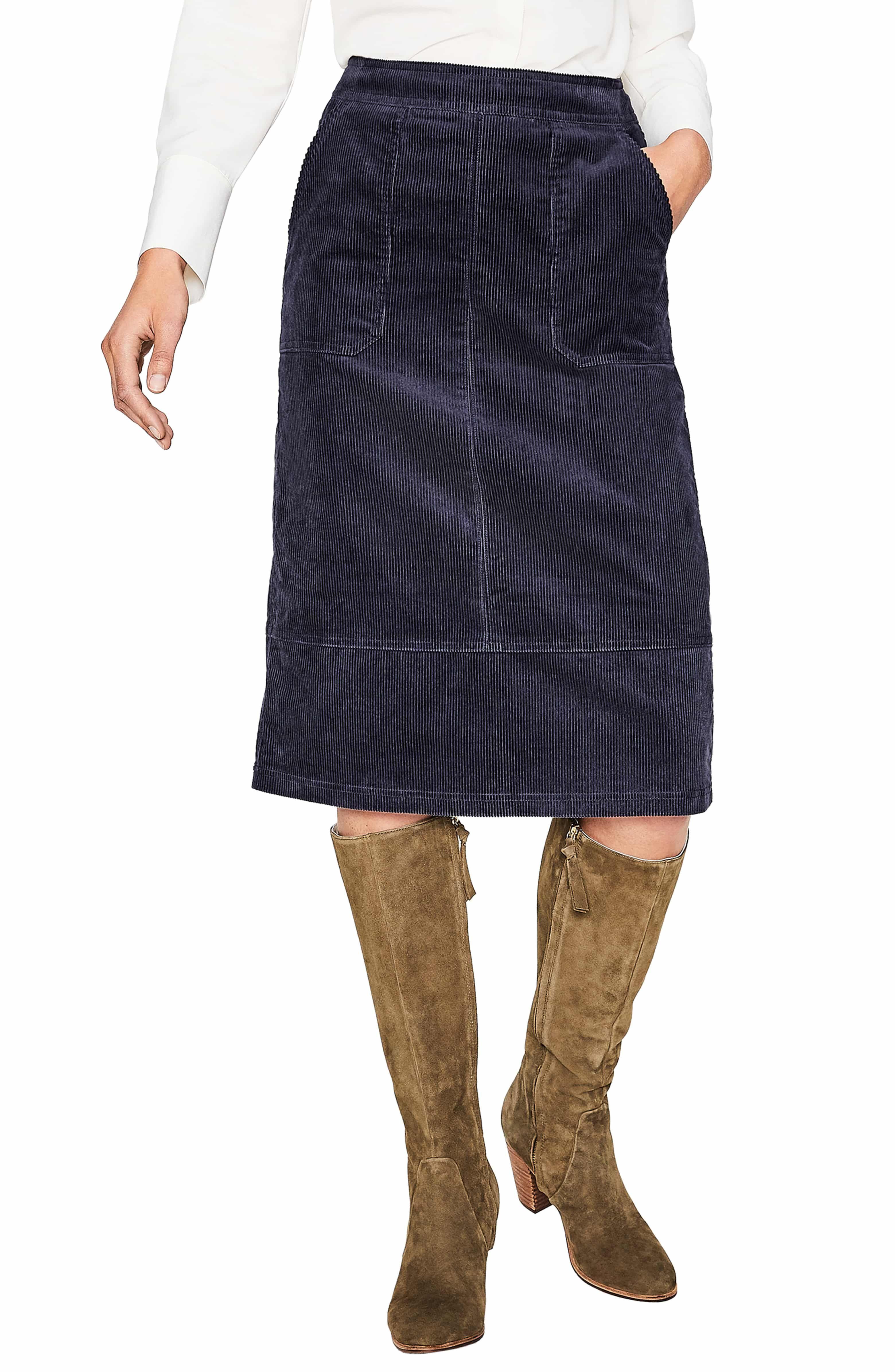 d790a960774de Patch Pocket Corduroy Midi Skirt Main color.  midiskirt  miniskirts  skirts   skirtsuit
