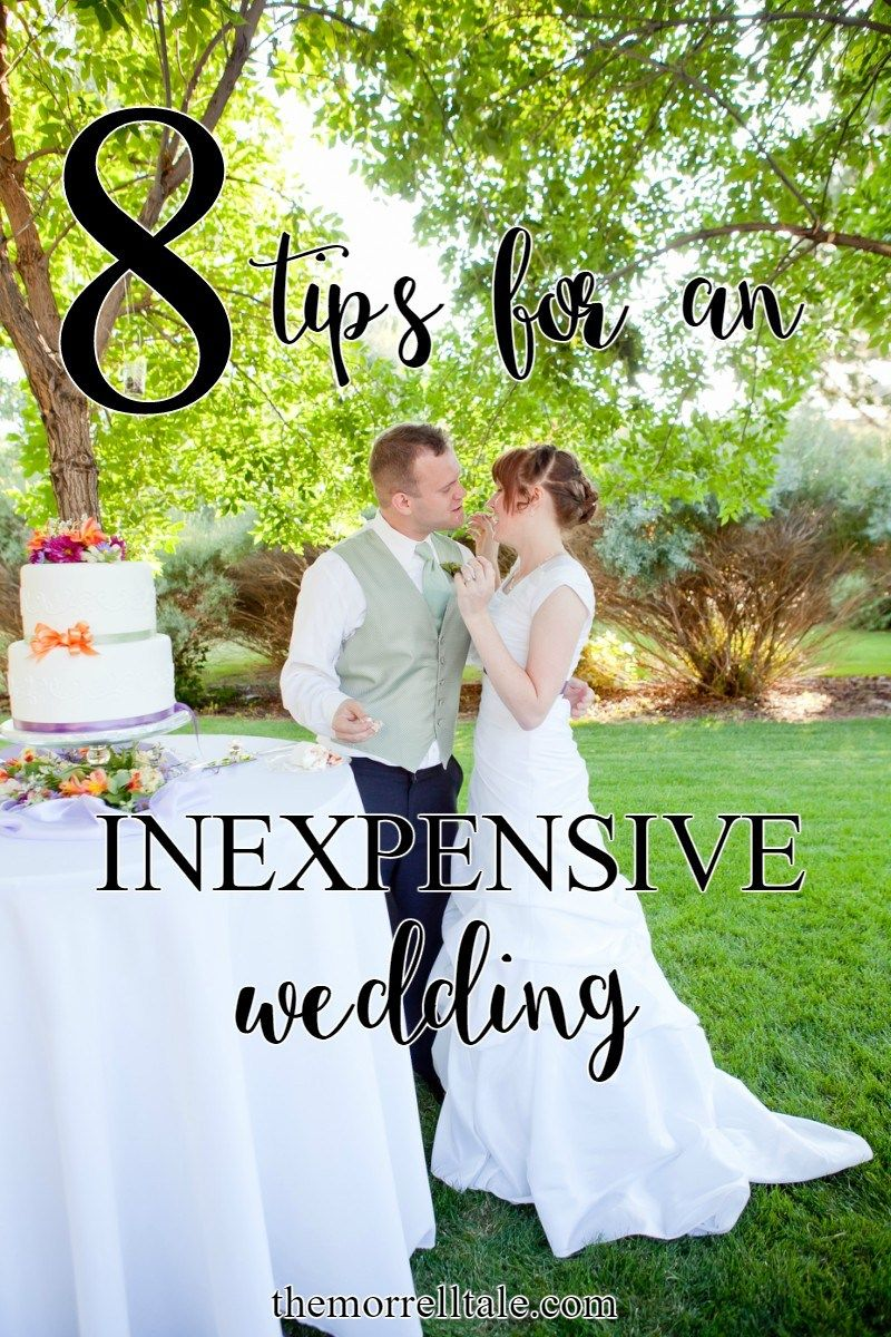 How To Have An Inexpensive Wedding The Morrell Tale Frugal Wedding Inexpensive Wedding Backyard Wedding