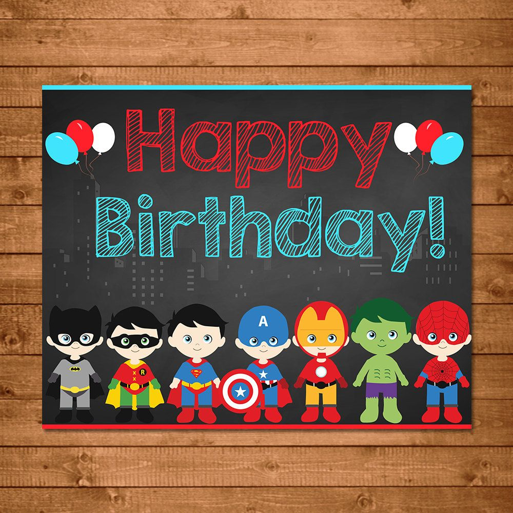happy birthday superhero images - Google Search | Signs ...