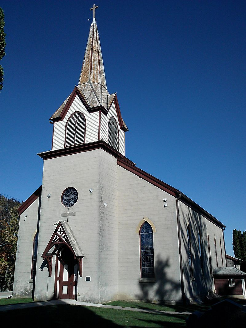 Old east paint creek lutheran church in allamakee county iowa