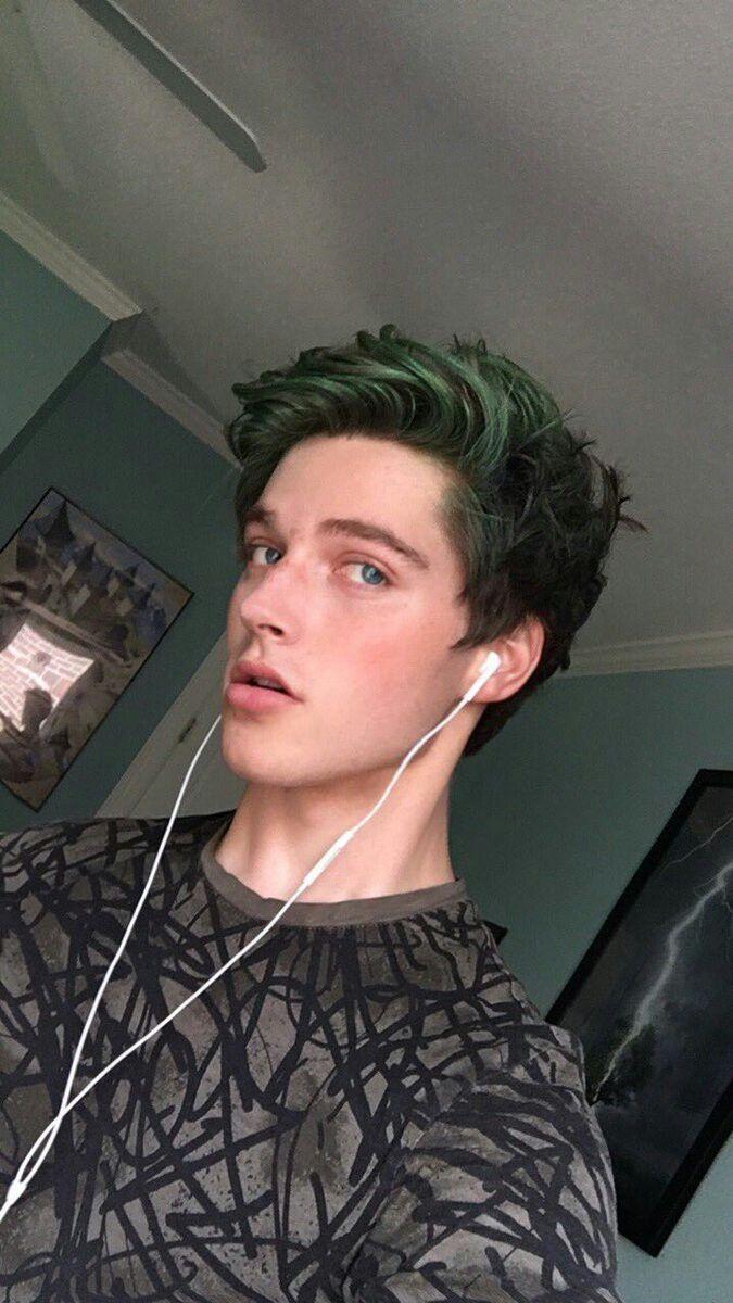 Domic Multi Kin Boys Colored Hair Men Hair Color Green Hair