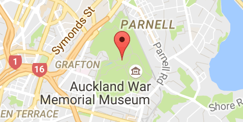 Map Of Auckland Domain Auckland Memorial Museum Map
