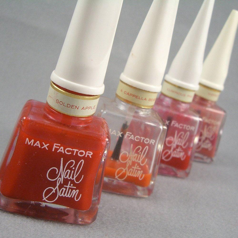 1960s bottles of Max Factor nail polish (set of 4) NIB Golden Apple ...