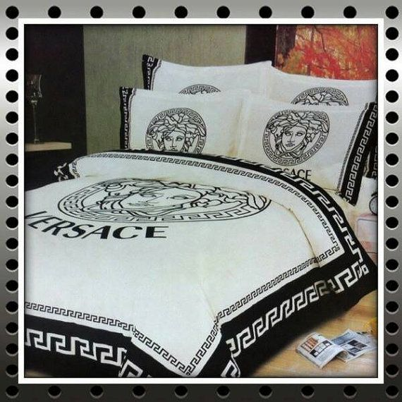 Check out this item in my Etsy shop https://www.etsy.com/listing/241613107/fleece-bedspread-versace-medusa-head